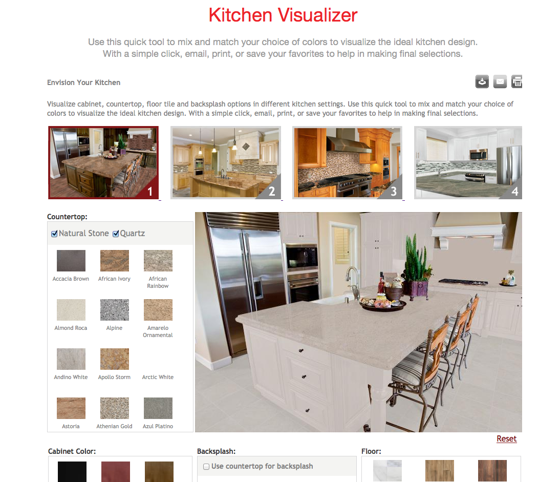 decorate your kitchen using our new kitchen visualizer seigles cabinet center - Kitchen Visualizer