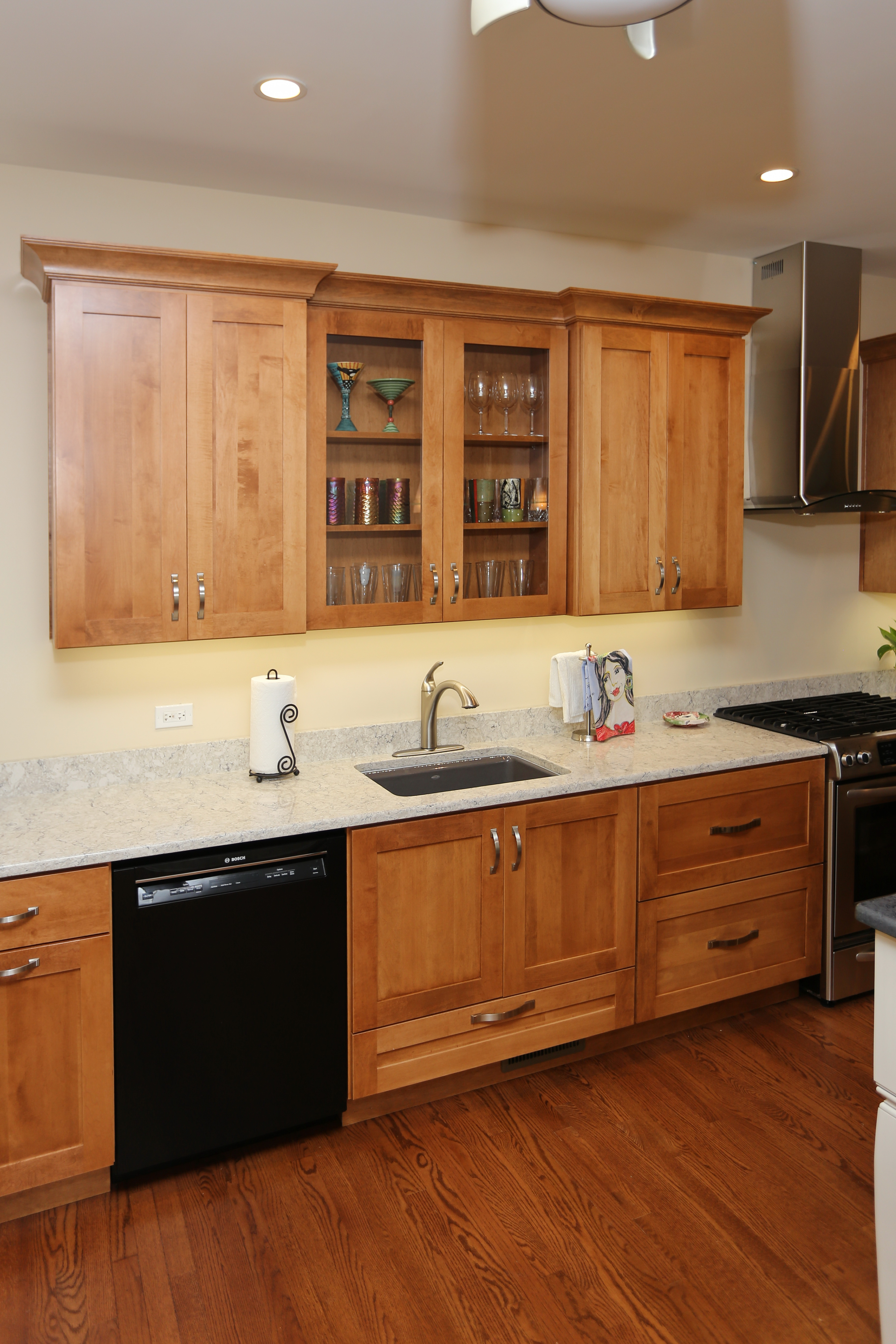 before and after perfectly designed entertaining kitchen in st