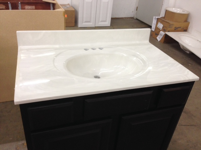 Cultured marble vanity top roselawnlutheran - Cultured marble bathroom vanity tops ...