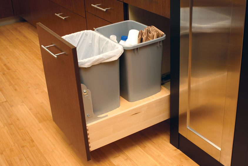 Garsttrash Feature Trash Recycling Cabinet