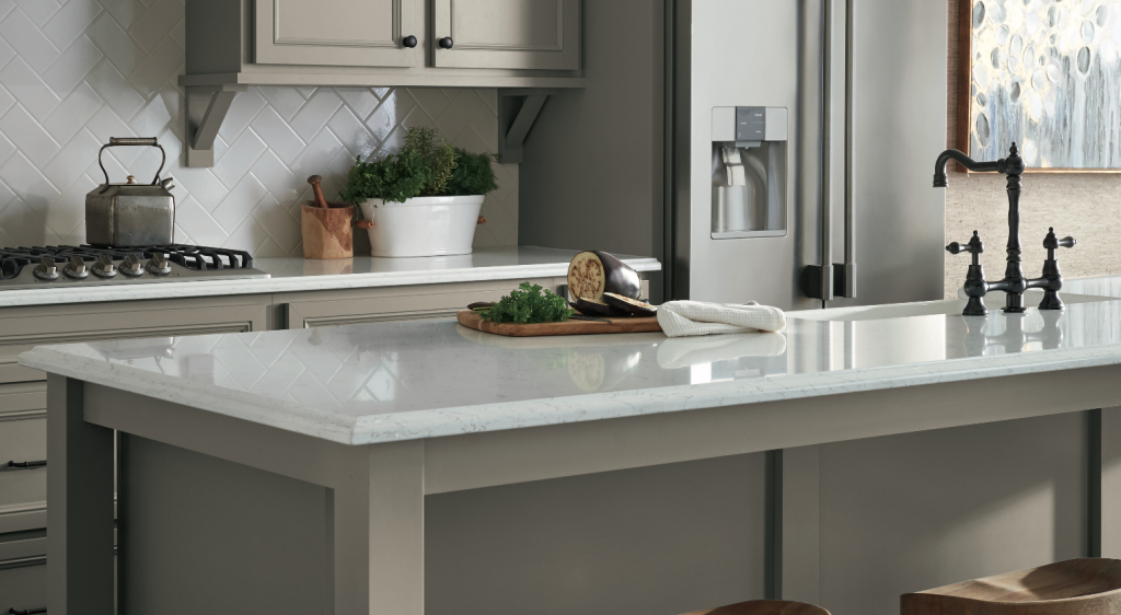 Durable Cabinets In Stone Gray Will Make The Kitchen Of Your Dreams Seigles Cabinet Center